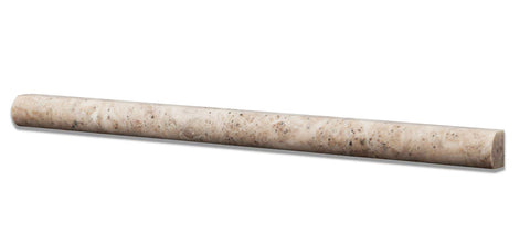 "Cappuccino Marble Liner - 3/4"" x 12"" Bullnose"