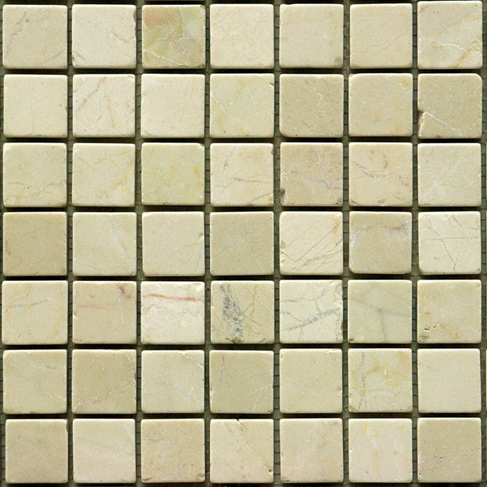 "Cappuccino Marble Mosaic - 1"" x 1"" Tumbled"