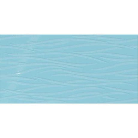 Showscape Crisp Blue Brushstroke Pattern SH16