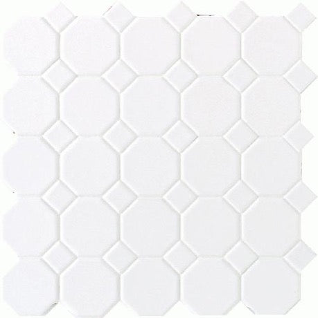 Octagon & Dot Matte White with White Dots 6501