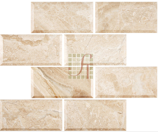 "Diano Royal Marble Honed Tile - 3"" x 6"" x 3/8"""
