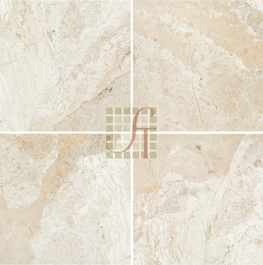 "Diano Royal Marble Polished Tile - 12"" x 12"" x 3/8"""