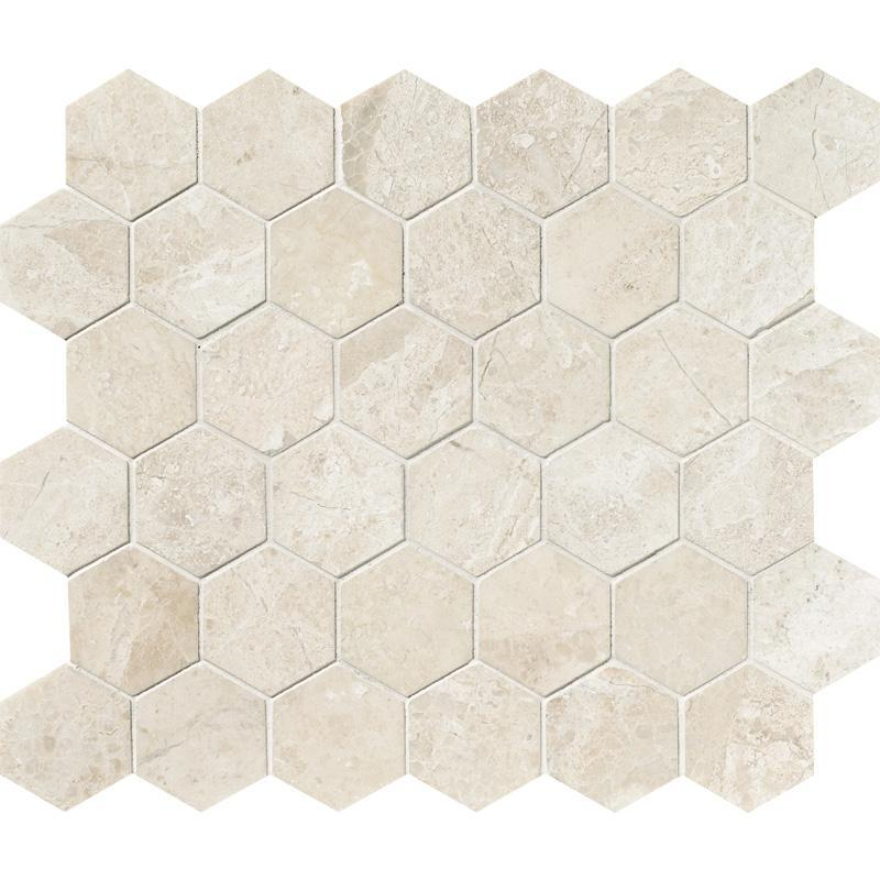 "Diano Royal Marble Mosaic - 2"" Hexagon Polished"