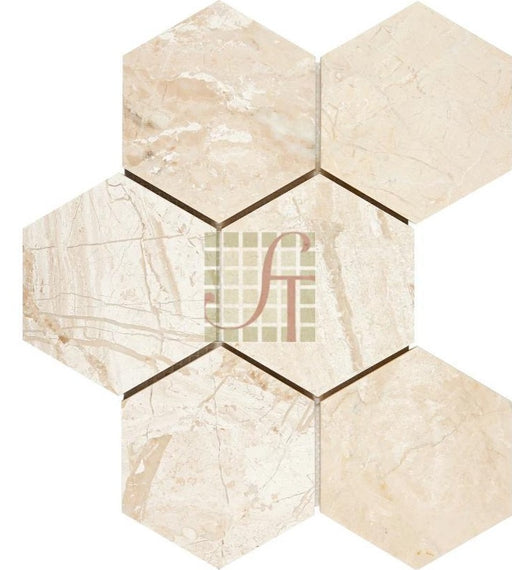 "Diano Royal Marble Mosaic - 4"" Hexagon"