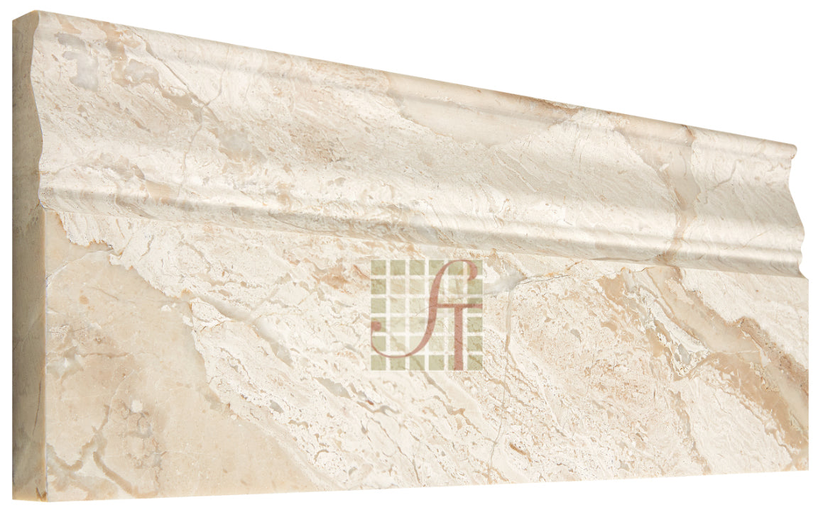 "Diano Royal Marble Baseboard - 4 3/4"" x 12"" Polished"