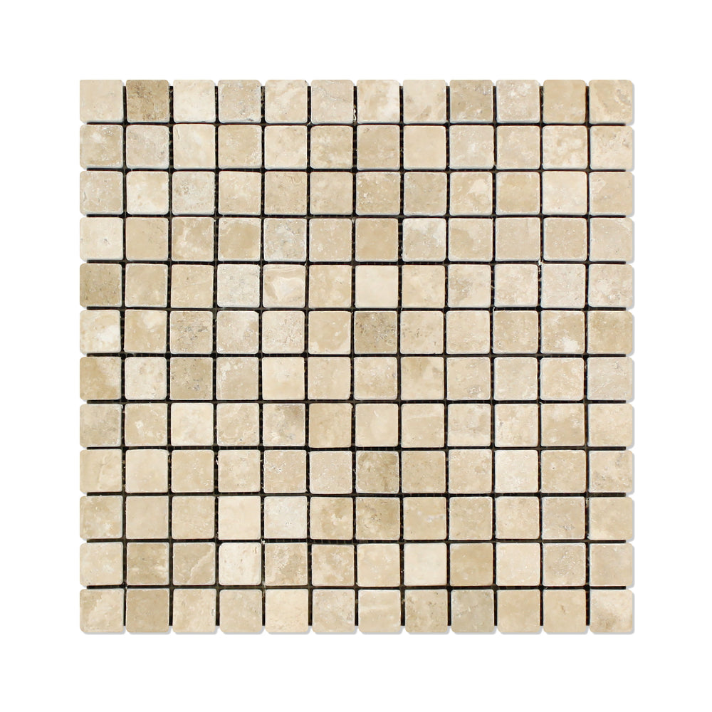 "Durango Travertine Mosaic - 1"" x 1"" Tumbled"