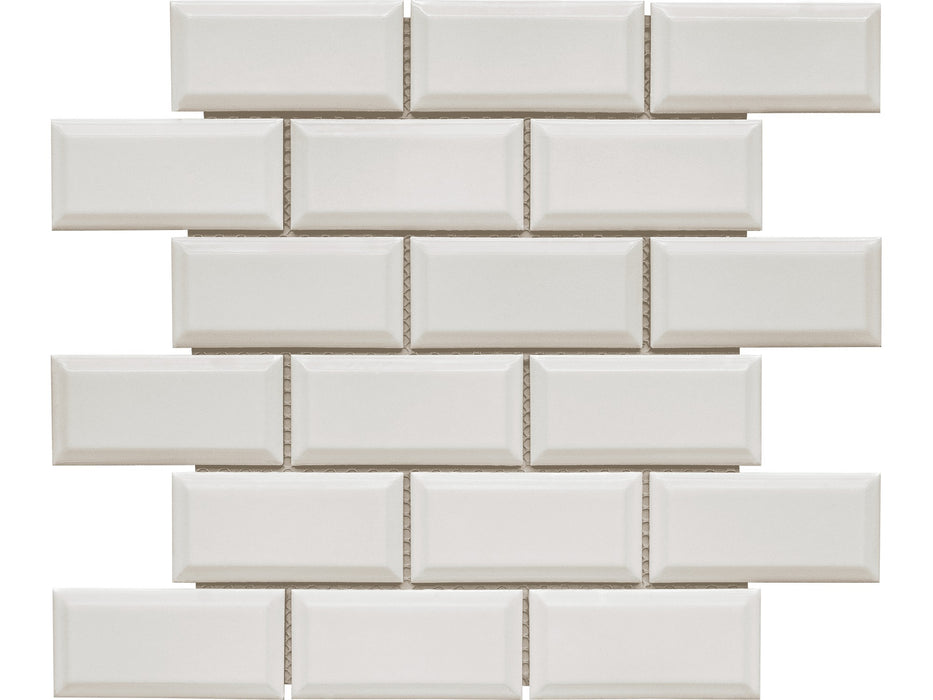 "Elements White 2"" x 4"" Beveled Brick"