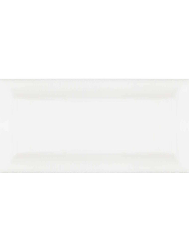 "Essentials White Double Edge Glazed Right Beveled 3"" x 6"""