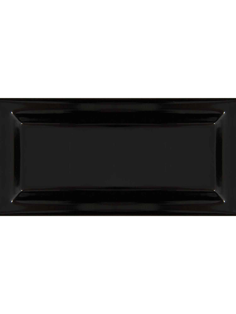 "Essentials Absolute Black Double Edge Glazed Left Beveled 3"" x 6"""