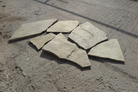 "French Vanilla Limestone Flagstone - Random Sizes x 5/8"" - 3/4"""