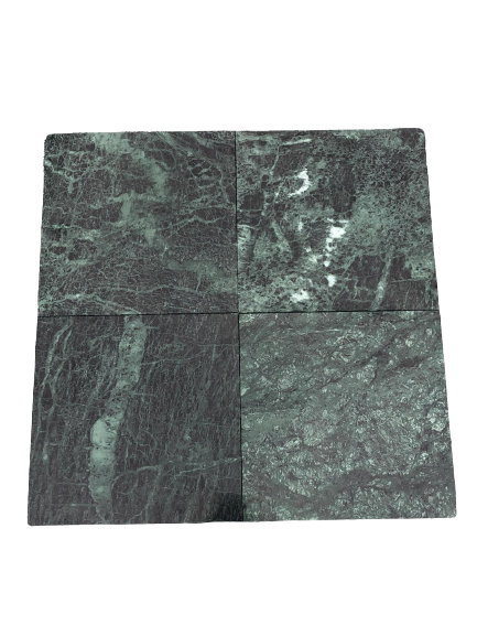 "Green Polished Marble Tile - 12"" x 12"" x 3/8"""