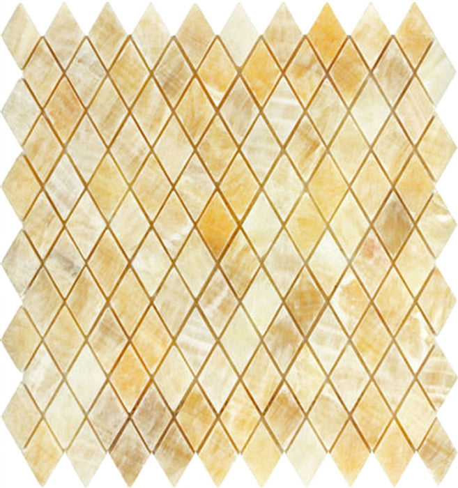 "Honey Onyx Mosaic - 1"" x 2"" Diamond Polished"