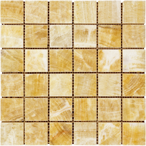 "Honey Onyx Mosaic - 2"" x 2"" Polished"