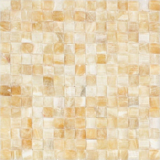 Honey Onyx Mosaic - 3D Small Bread Polished