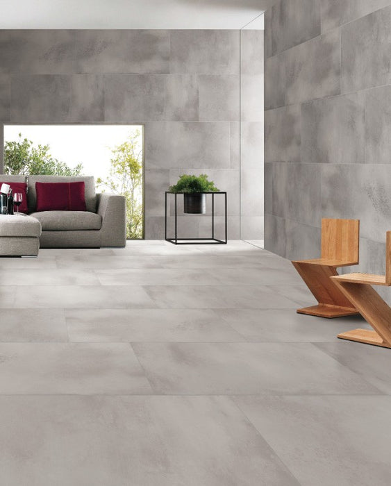 "Matte Metal Max Medium Porcelain Tile - 24"" x 48"" x 3/8"""