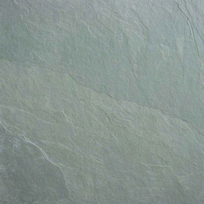 Jade Green Slate Natural Cleft Face, Gauged Back Tile