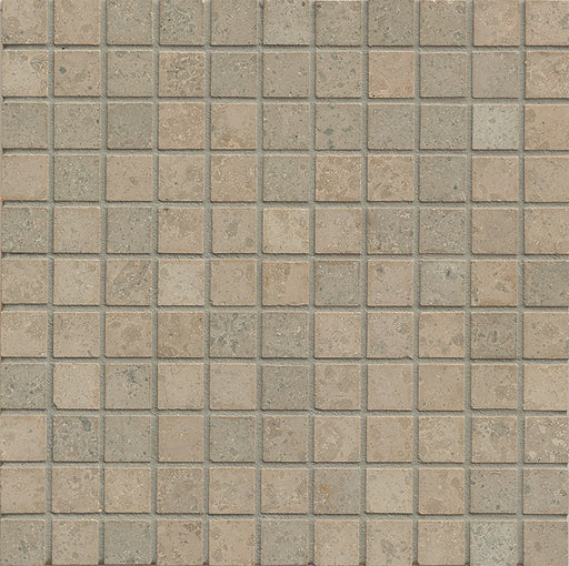 "Jura Gray Limestone Mosaic - 1"" x 1"" Honed"