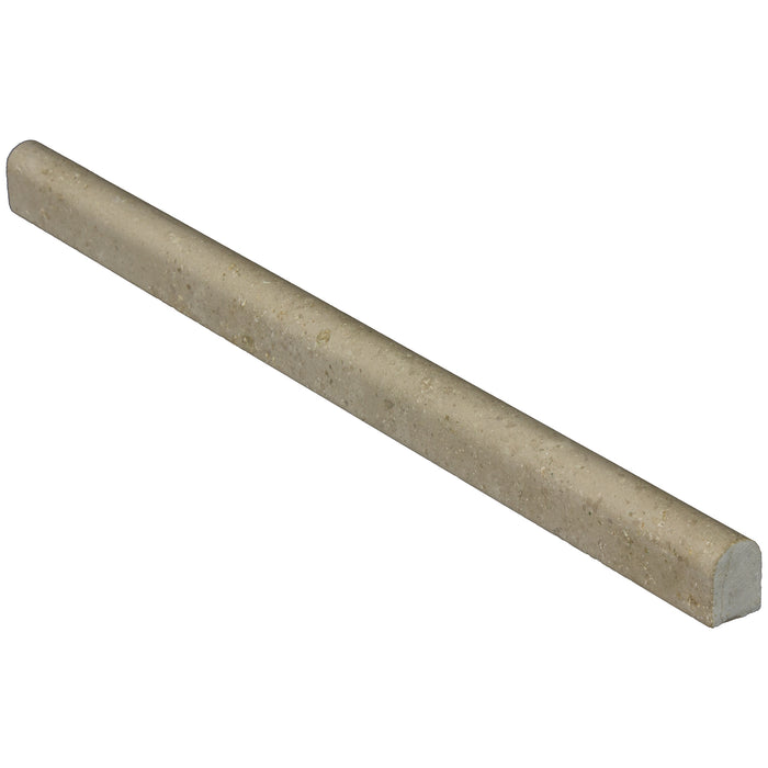"Jura Gray Limestone Liner - 1/2"" x 12"" Pencil Honed"
