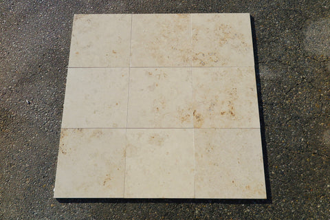 "Jura Beige Honed Limestone Tile - 18"" x 18"" x 1/2"""