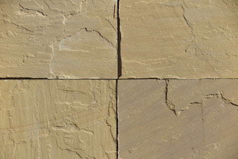 "Kokomo Gold Light Sandstone Tile - 12"" x 12"" x 1/2"" - 3/4"""