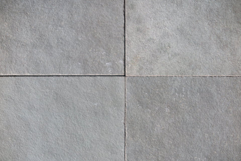 "Natural Cleft Face & Back Kota Blue Limestone Tile - 16"" x 16"" x 1/2"" - 5/8"""