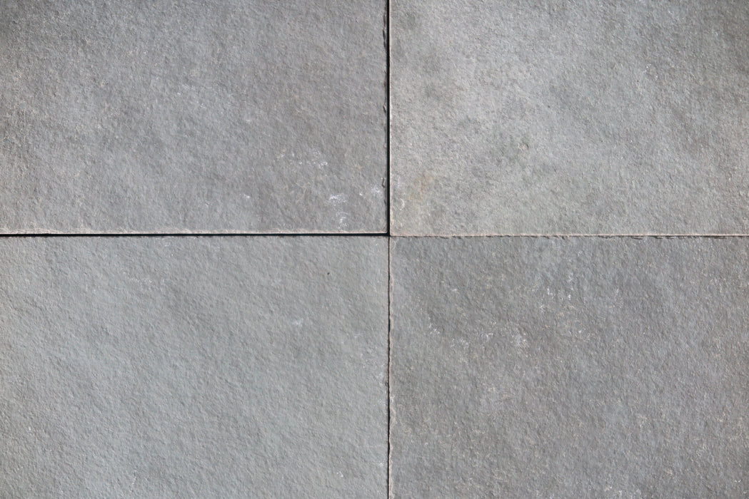 "Natural Cleft Face, Gauged Back Kota Blue Limestone Tile - 16"" x 16"" x 3/8"" - 1/2"""