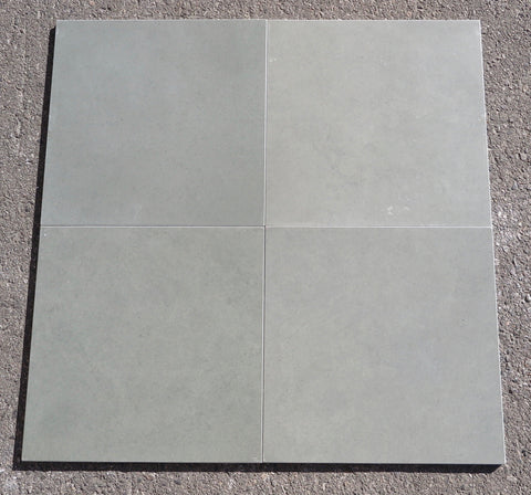 "Honed, Kota Blue Limestone Tile - 16"" x 16"" x 3/8"" - 1/2"""