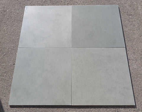 "Honed Kota Blue Limestone Tile - 24"" x 24"" x 5/8"""
