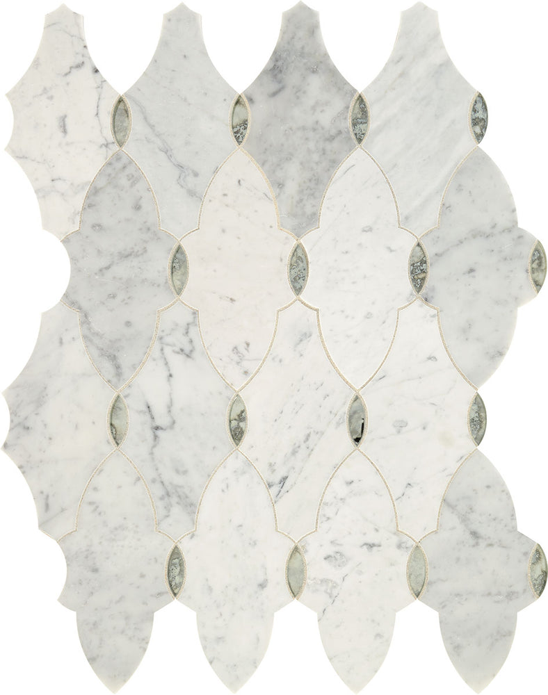 Lavaliere White Carrara with Antique Mirror LV16