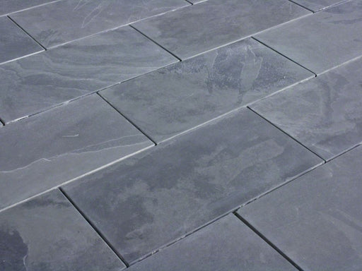 Montauk Black Slate Brushed Tile