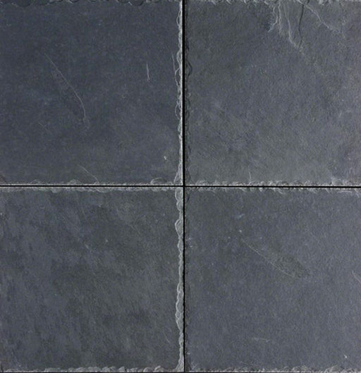 Montauk Black Slate Chiseled Tile