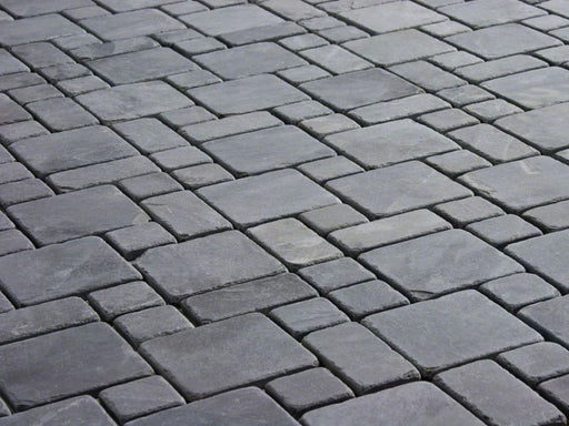 Montauk Black Slate Tumbled Tile