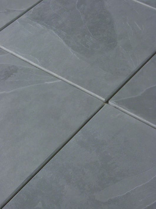 "Full Tile Sample - Montauk Blue Slate Tile - 3"" x 12"" x 3/8"" Brushed"