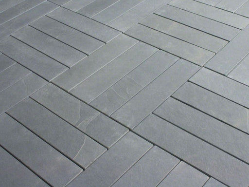 Montauk Blue Slate Natural Cleft Face, Gauged Back Tile