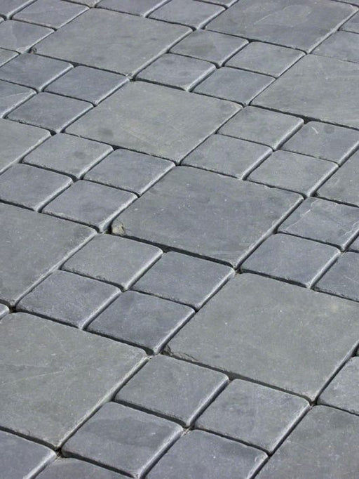 Montauk Blue Slate Tumbled Tile