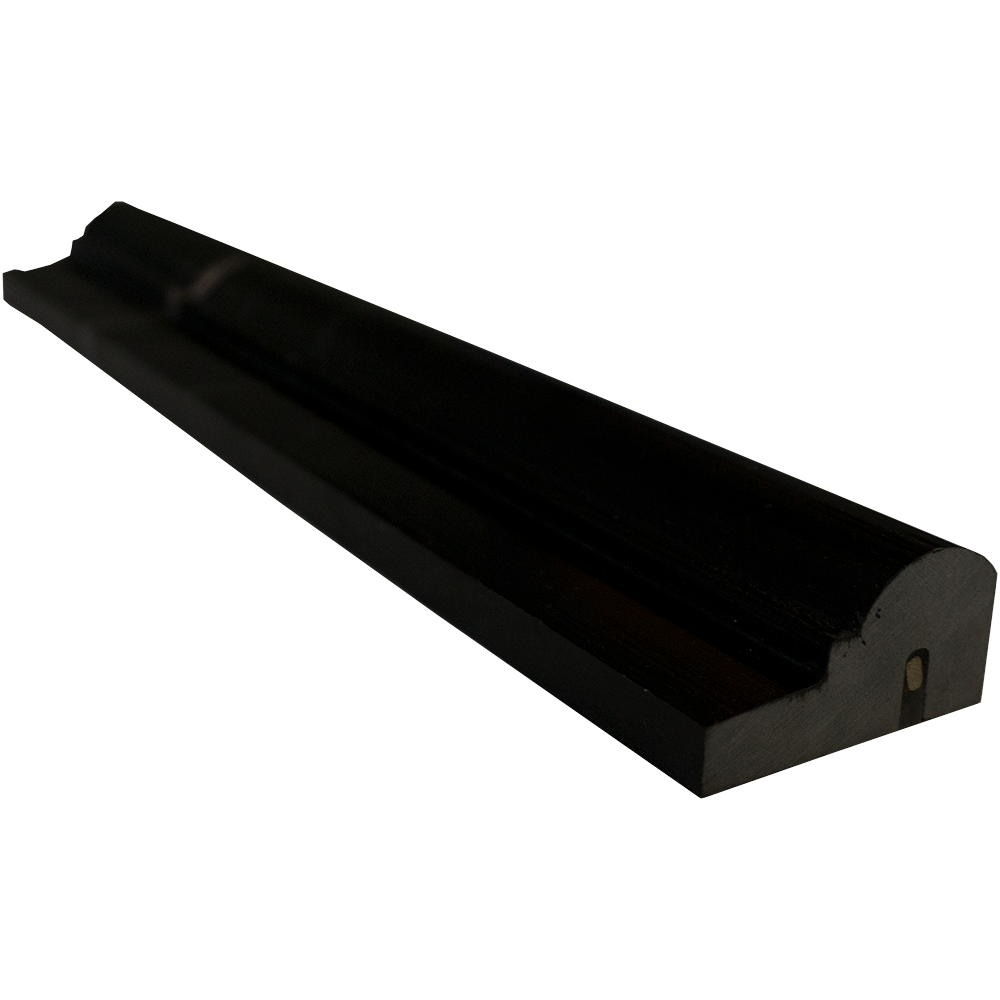 "Nero Marquina Marble Liner - 2"" x 12"" F1 Chair Rail Polished"