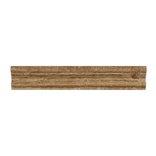 "Noche Vein Cut Travertine Molding - 2"" x 12"" Crown (Mercer) Molding Honed"