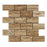 "Noche Vein Cut Travertine Mosaic - 2"" x 4"" Brick Polished"