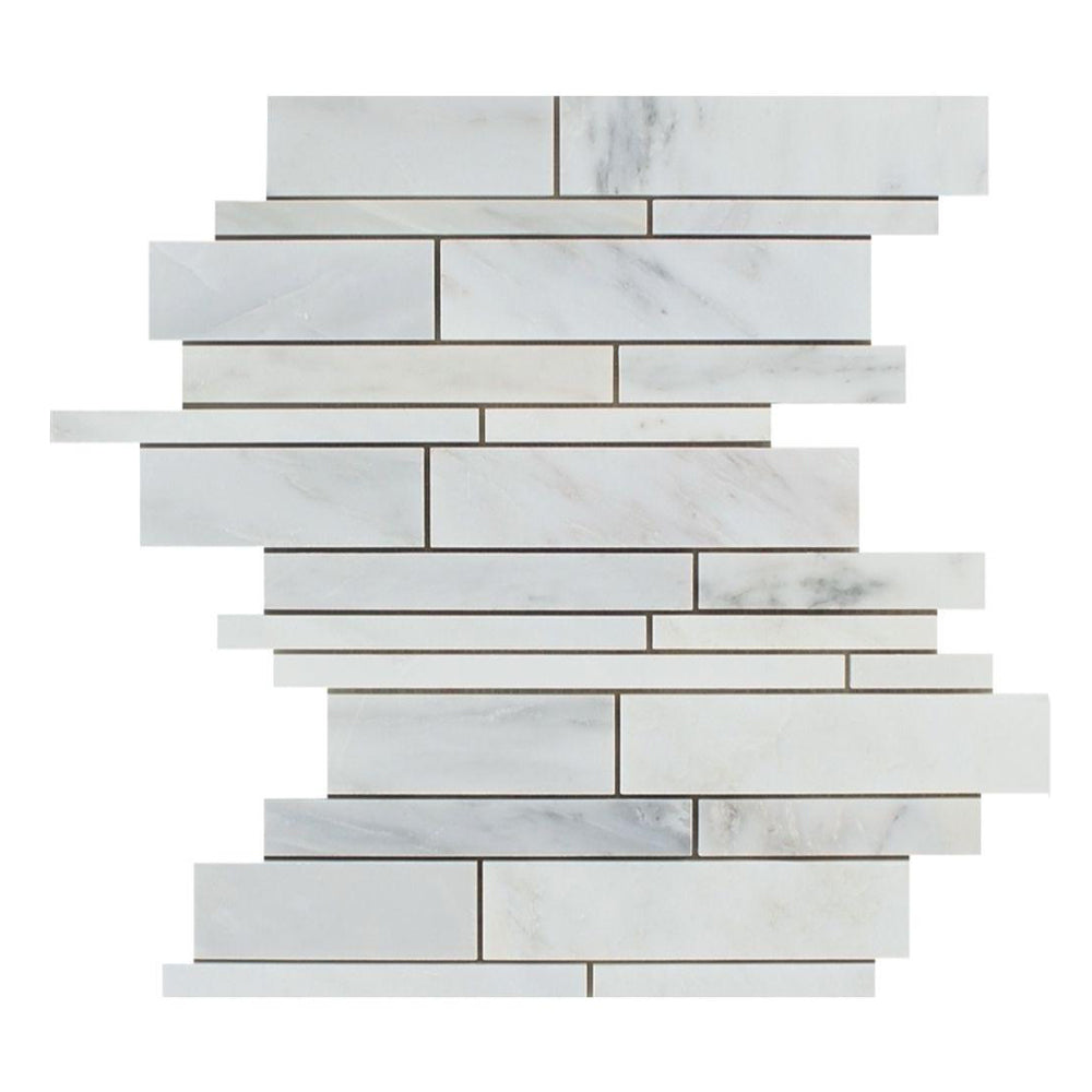 Oriental White Marble Mosaic - Linear Polished