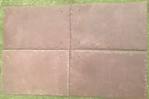 Purple Roof Tile - Natural Cleft Face & Back