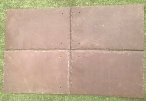 "Purple Natural Cleft Face & Back Roof Tile - 10"" x 16"" x 1/4"""