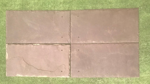 "Purple Roof Tile - 8"" x 16"" x 1/4"""