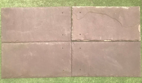 "Purple Natural Cleft Face & Back Roof Tile - 8"" x 16"" x 1/4"""
