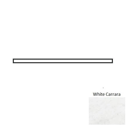"White Carrara 1/2"" x 12"" Pencil"
