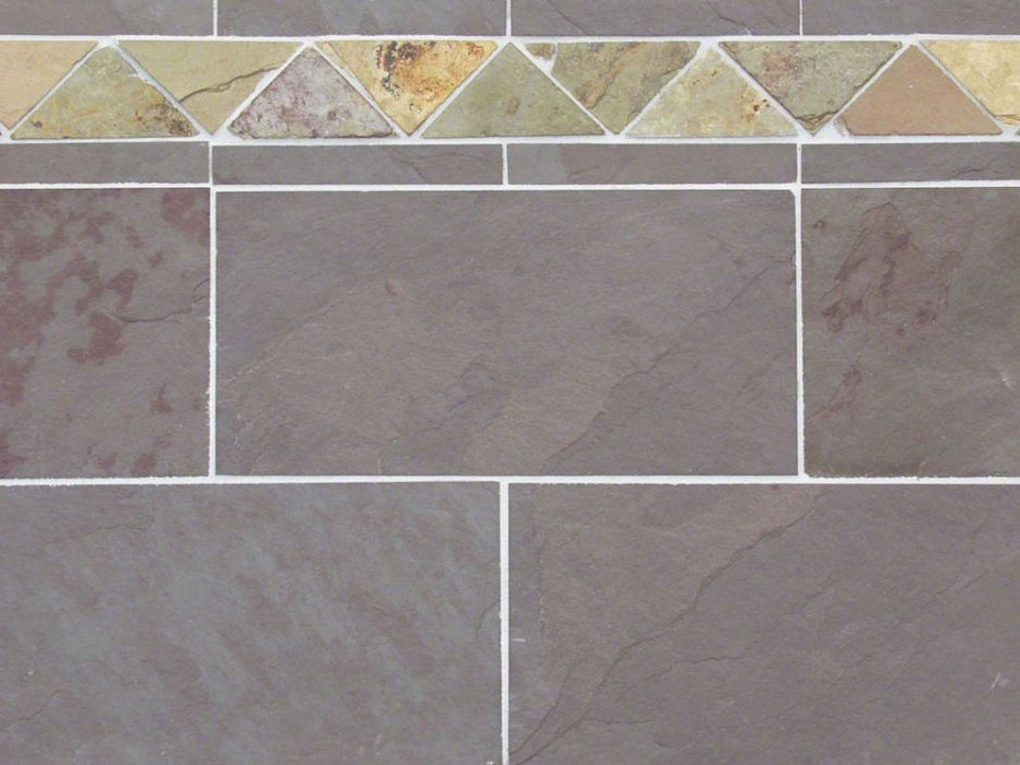 "Plum Slate Natural Cleft Face, Gauged Back Tile - 8"" x 16"" x 3/8"""