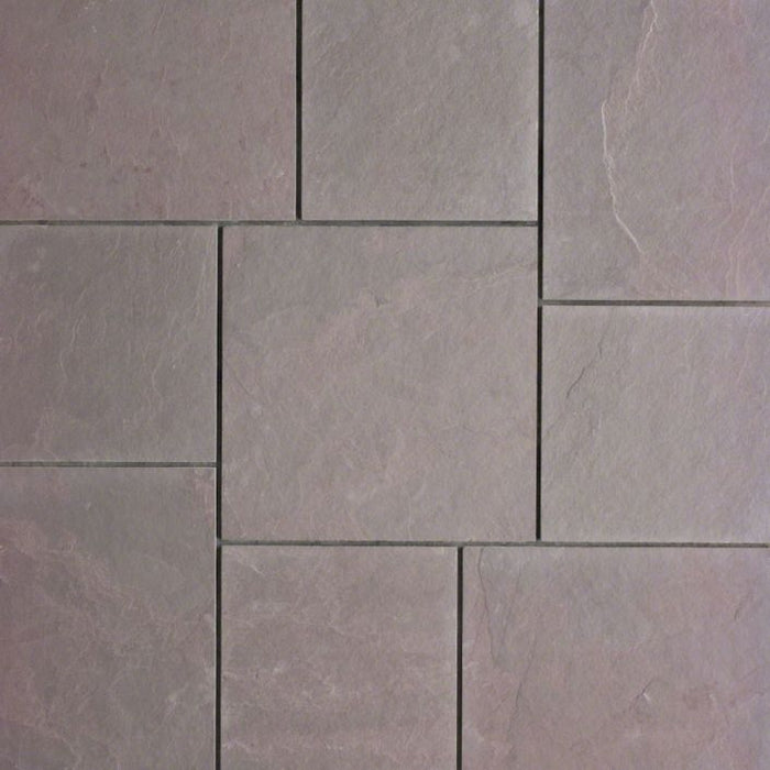 "Plum Slate Natural Cleft Face, Gauged Back Tile - 4"" x 12"" x 3/8"""