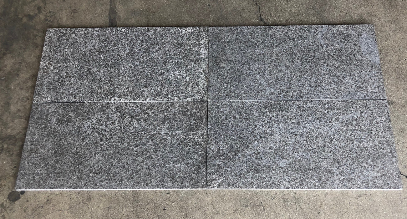 "Pompeii Black Granite Tile - 12"" x 24"" x 1/2"""