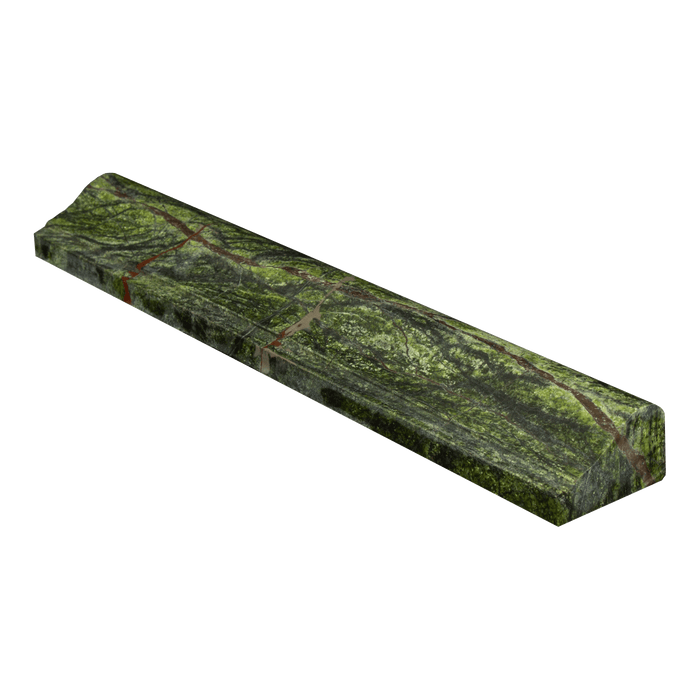 "Rain Forest Green Marble Liner - 2"" x 12"" F5 Chair Rail Polished"