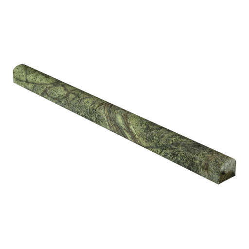 "Rain Forest Green Marble Liner - 3/4"" x 12"" Bullnose Polished"