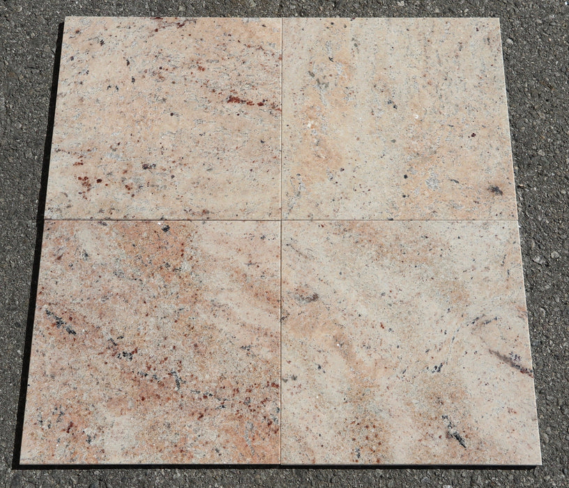 "Polished Raja Pink Granite Tile - 12"" x 12"" x 3/8"""